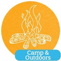 Girl Scout outdoor experience at Cadette Trees Badge day at Camp Small Valley