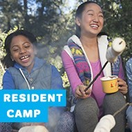 Get away at overnight camp for a week full of fun outdoor activities including hiking, swimming, campfires, and archery