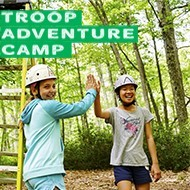 Get the full outdoor experience camping out at Troop Adventure Camp
