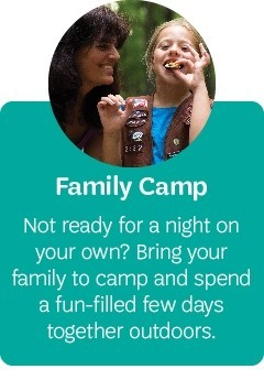 Girl Scouts in the Heart of Pennsylvania Camp for the whole family
